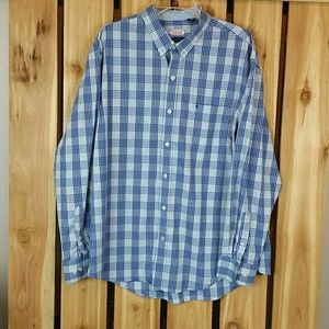 IZOD PLAID BUTTON DOWN LONG SLEEVE